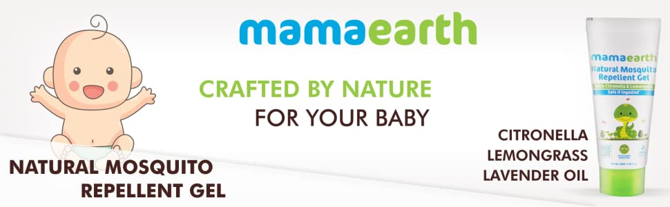 Mamaearth Natural Mosquito Repellent Gel 50ml. DEET Free. Protects from Dengue, Malaria & Chikungunya (Pack of 1)