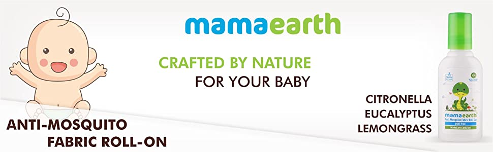 Mamaearth Anti Mosquito Fabric Roll On 8ml. DEET Free. Protects from Dengue, Malaria & Chikungunya (Pack of 1)