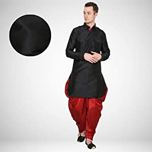 0f8226404 Royal Kurta Men's Silk Blend Pathani Kurta Salwar Set: Amazon.in ...