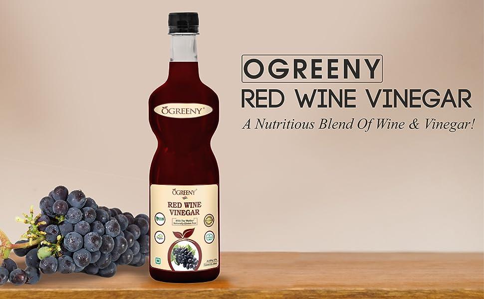 OGREENY Red Wine Vinegar Organic Non Alcoholic Drink