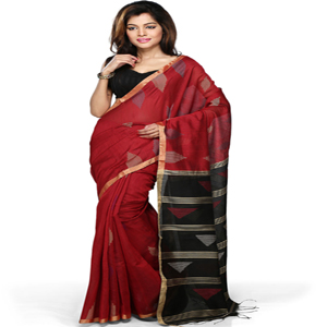 Art silk jamdani saree
