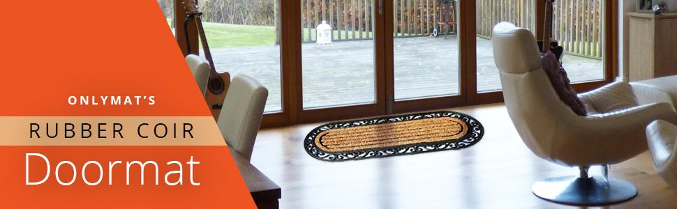 Rubber and Coir Anti-Slip Non-Slip Doormat for Main Door