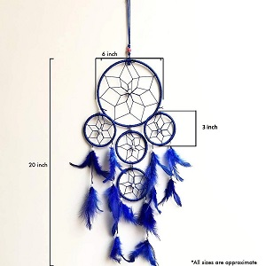 SIZE OF THE BLUE DREAM CATCHER