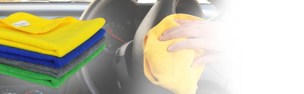 Microfiber car cleaning cloths