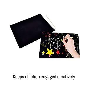 • Keeps children engaged creatively