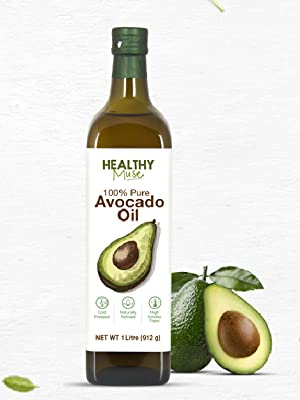 Healthy Muse, avocado oil 250ml cooking oil, frying oil, baking oil, refined natural cold pressed