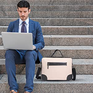 office leather bag laptop