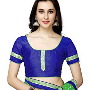 Saree comes with the Blouse