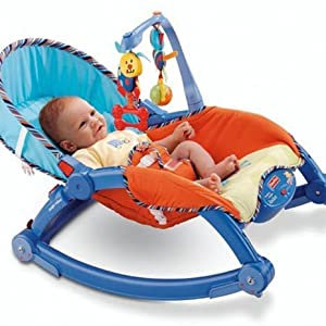 Webby Newborn To Toddler Portable Rocker Multi Color Amazon In Baby