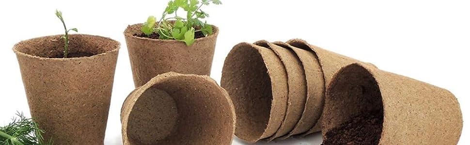 coco pot, coir pot, coconut pot, tray pot, seedling cup, fibre pot, coir seedling tray