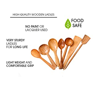 Wooden spatulas cookware neem wood cooking dosa roti serving curries
