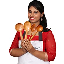 Wooden spatulas cookware neem wood cooking serving curries