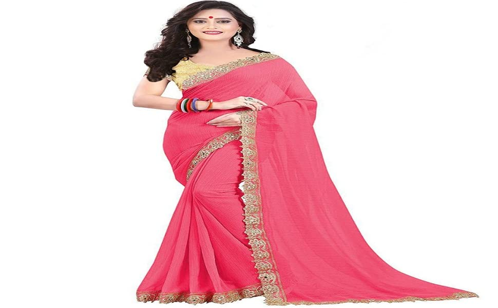 Embroidery work Georgette saree