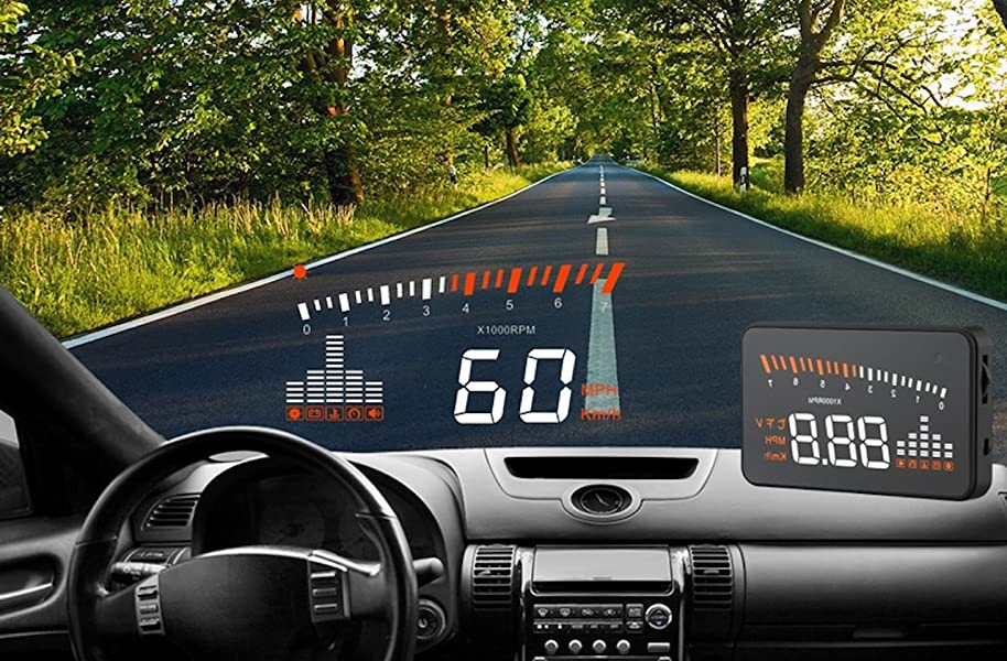 head up display car hud universal 3 5 inch 2 colour. Black Bedroom Furniture Sets. Home Design Ideas