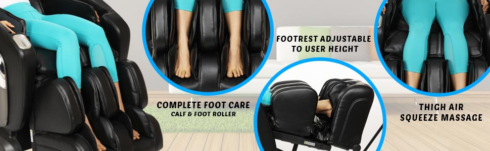 foot and back massager chair