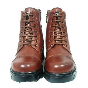 asm police uniform tan color leather combat boot
