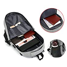 multi compartment laptop backpack