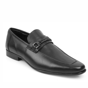 tresmode mens casual loafers stylish shoes slip on leather shoes TRP sole office wear black shoes