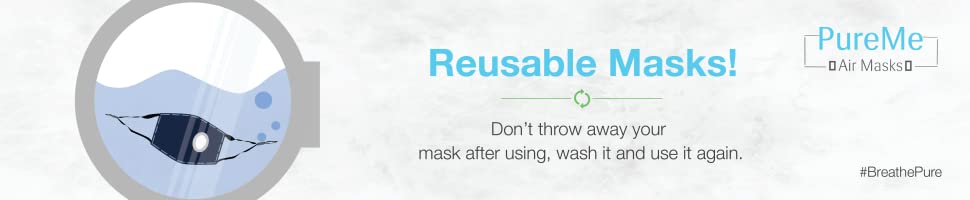 reusable washable n95 mask