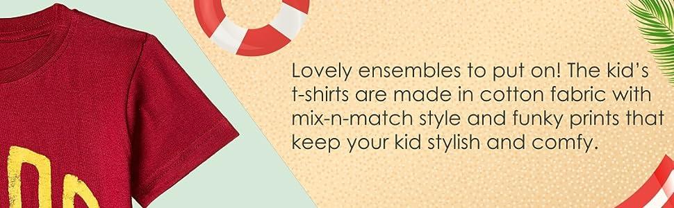 ESNINO Boys' Cotton T-Shirt