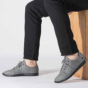 Neemans Grey Merino Wool Sneaker & Comfortable & Lightweight Shoes & Breathable