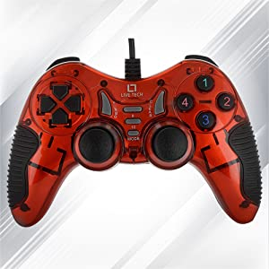 Live Tech GP 01 Turbo Double Vibration Game Pad (Red)