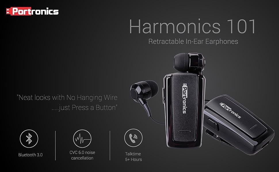 1bcaae13daf The Harmonics 101 Mini Retractable Bluetooth Headset has a small footprint  like a hummingbird.