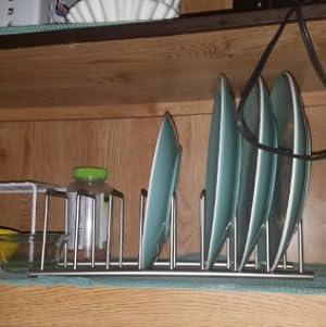 kitchen dish plate utensils lid tray pan pot rack stand holder organiser shelf storage cutlery stand