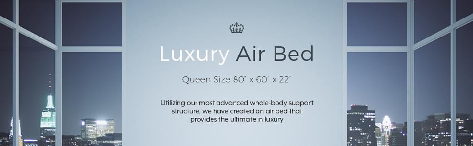 queen size raised air bed camping mattress inbuilt electric pump coleman etekcity lit