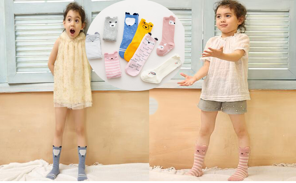 027d4dc0d 6 Pairs Baby Socks Knee High Tights Long Socks For Baby Girls And Boys!