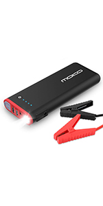 Portable Power Bank External Battery Pack with 2 USB Ports and LED Flashlight Black /& Red All Gas and 5L Diesel Engine 19800mAh 12V Auto Emergency Booster MoKo 1000A Peak Car Jump Starter