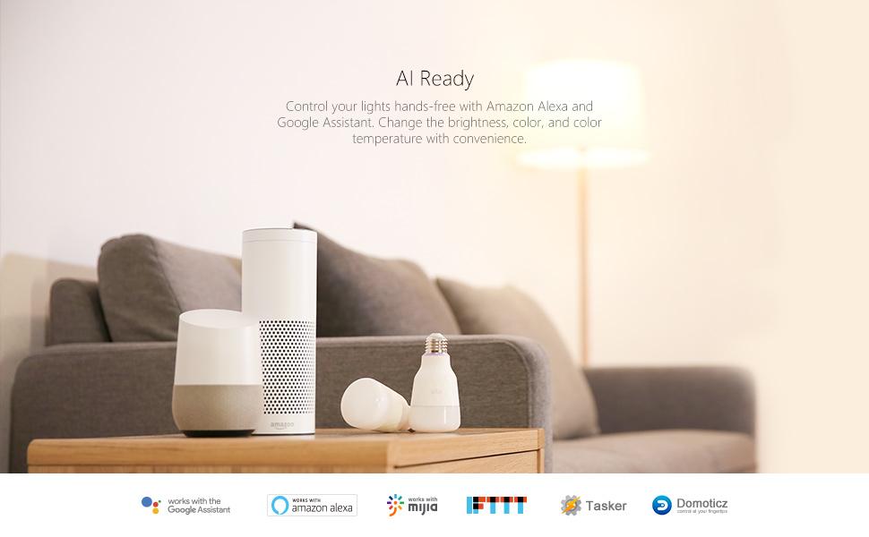 Smart led wifi a19 rgb multi color bulb amazon alexa google assistant philips hue tp link