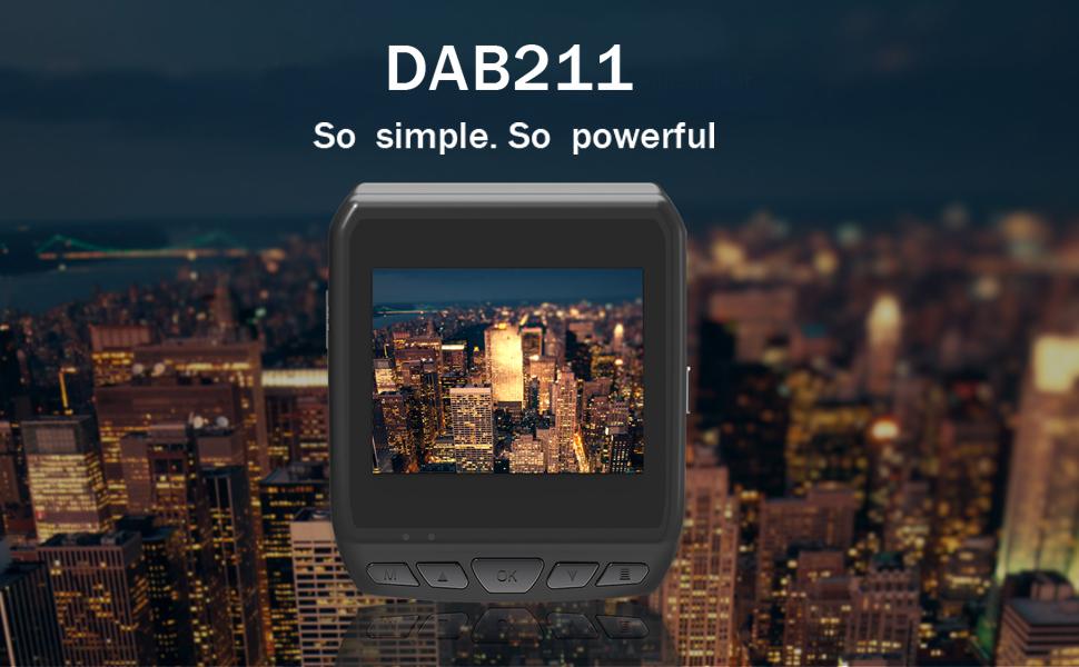 Super HD 1440P High Resolution Video Dash Cam FCWS lDWS Function Black G-Sensor ADAS GPS Tracking HDMI Output etc SOS Emergency Saving