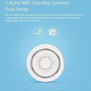 CYBERNOVA Smart Home Series-WiFi Wireless USB Alarm Siren,Workes with Alexa Echo and Google Home IFTTT
