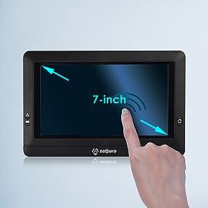 7-inch touchscreen