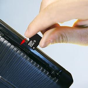 micro sd card insert sequro device
