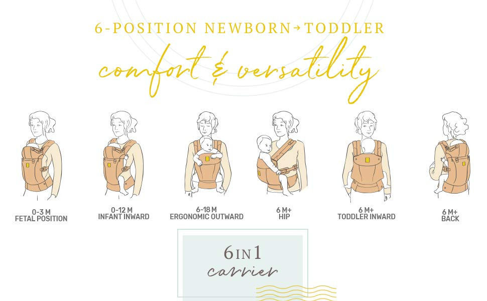 6-position newborn and toddler