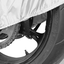 Black/&Silver NEVERLAND Motorcycle Cover,Indoor Waterproof UV Dust Protector Cover,2 Stainless Steel Lock-Holes Fits 71to 82Off-Road,Scooter,Trail,Street