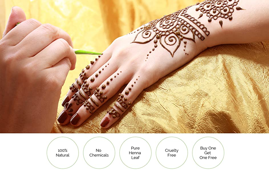 Henna Tattoo Kaufen Amazon: Henna Paste, 2 Cones + 2 Cones FREE
