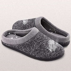 aa02fc1cadc HomeTop Men s Comfort Breathable Cotton Memory Foam House Slippers ...