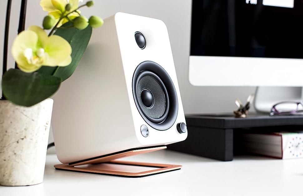 Kanto S4 Desktop Speaker Stands For Midsize Speakers Copper Amazon