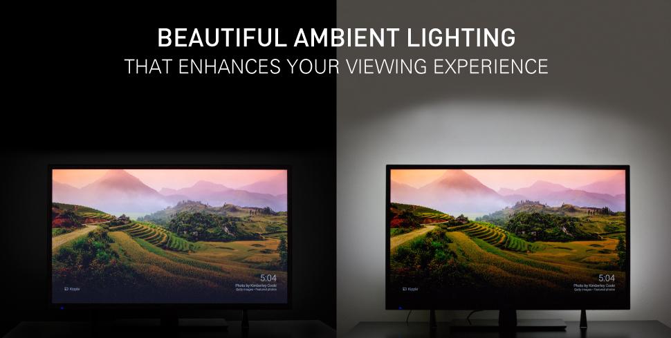 Luminoodle Computer Monitor Bias Lighting Usb Tv