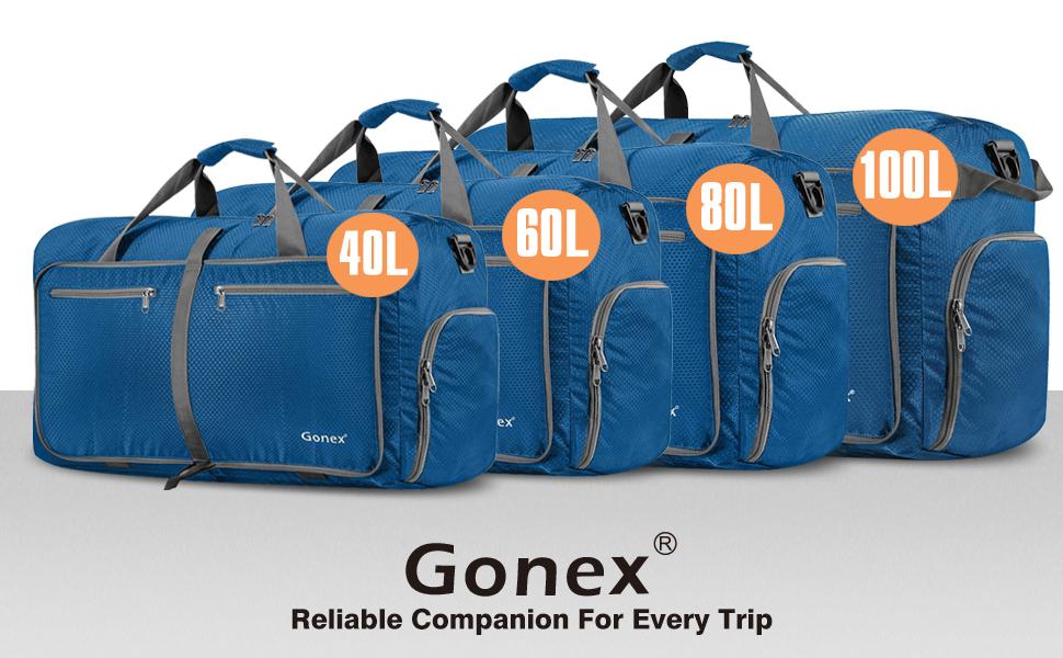 Gonex 40L Packable Travel Duffle Bag, Great Boarding Bag Lightweight ... 635a2a43ed