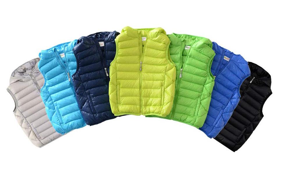 Hiheart Boys Girls Winter Down Vest Puffer Hooded Vests Clothing Down & Down  Alternative