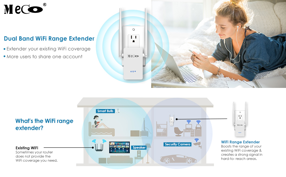 2.4 5ghz 750mbps Wifi Repeater Wireless Signal Booster Helpful Wifi Range Extender