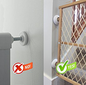 Babygoal Wall Guards Wall Guard Pads Perfect for Child//Pet Pressure Safety Gates WGF01-ca 4 Pack Gate Wall Cups for Baby Gate Pressure Mount