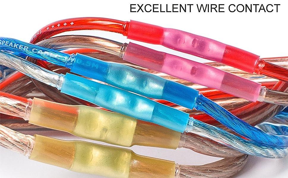 Lot de 100 connecteurs thermo-r/étr/écissables pour fil /électrique Blanc