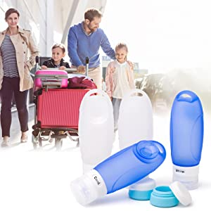useful and reusable travel bottles set for travel
