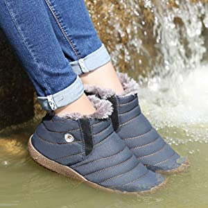 Weweya New Men Winter Shoes Unisex Waterproof Snow Boots Plush Inside Keep Warm Ankle Boots Couple Sneakers Ski Boots Size 48 Always Buy Good Men's Shoes Basic Boots