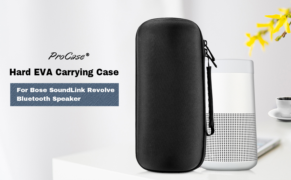 bose revolve speaker. procase bose soundlink revolve case is specially designed for storing and protecting bluetooth speaker accessories that come with